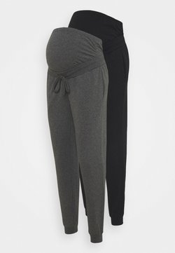 Anna Field MAMA - 2 PACK - Jogginghose - black/ dark grey