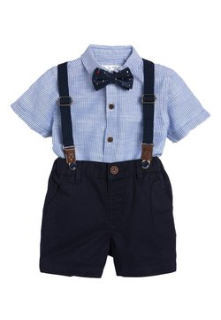 Next - BLUE SHIRT, SHORTS, BOW TIE AND BRACES SET (3MTHS-7YRS) - Overhemd - blue