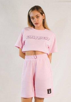 Bershka - BEDRUCKTES SAMT-SHIRT - T-Shirt print - pink