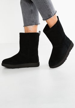 UGG - CLASSIC SHORT WATERPROOF - Classic ankle boots - black