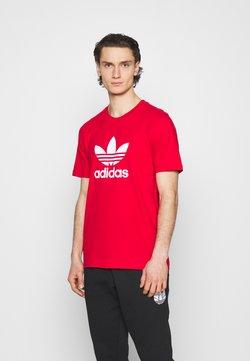 adidas Originals - TREFOIL UNISEX - Printtipaita - scarlet/white