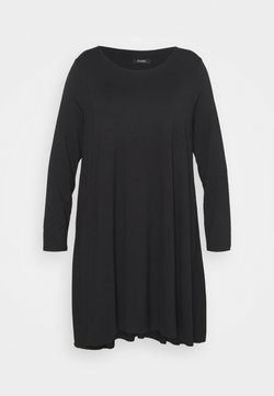 Evans - SWING DRESS - Jersey dress - black