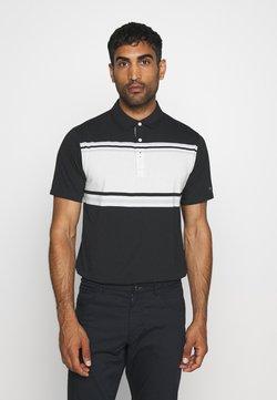 Nike Golf - DRY PLAYER STRIPE - Funktionsshirt - black/sail/sky grey/silver