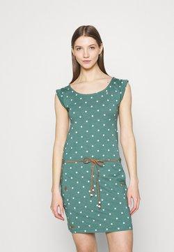 Ragwear - TAG DOTS - Etuikleid - dark green