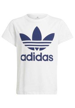 adidas Originals - TREFOIL - T-shirt imprimé - white/night sky
