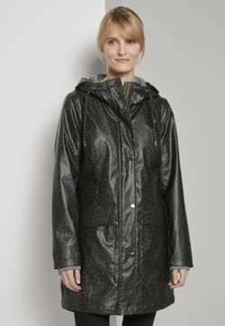 TOM TAILOR - PADDED RAINCOAT - Parka - green abstract design