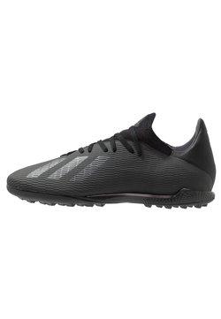 adidas Performance - X 19.3 TF - Fußballschuh Multinocken - core black/utility black/silver metallic