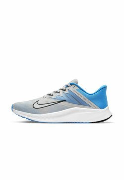 Nike Performance - QUEST 3 - Zapatillas de running neutras - grey fog photo blue particle grey dark smoke grey