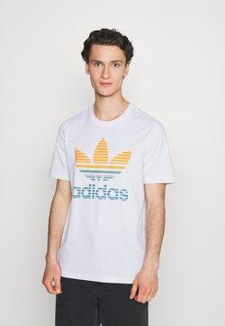 adidas Originals - TREF OMBRE UNISEX - T-Shirt print - white