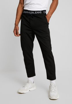 Calvin Klein Jeans - EXPOSED WAISTBAND MILANO PANT - Jogginghose - black