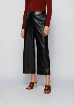 BOSS - TAOMIE - Pantalon en cuir - black