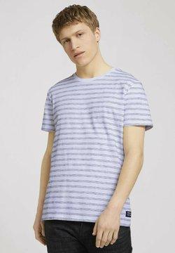 TOM TAILOR DENIM - MIT STREIFENMUSTER - T-Shirt print - white black injected stripe