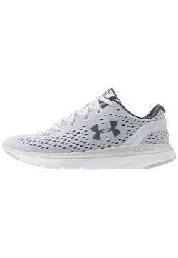 Under Armour - CHARGED IMPULSE - Hardloopschoenen neutraal - halo gray/white/pitch gray