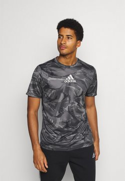 adidas Performance - CAMO  - T-Shirt print - grey four