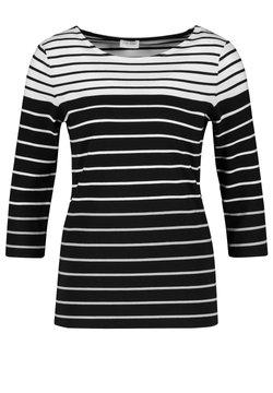 Gerry Weber - MIT RINGELDESSIN - Langarmshirt - black, white