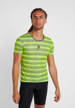 ODLO - CREW NECK ZEROWEIGHT - T-Shirt print - safety yellow/odlo graphite grey