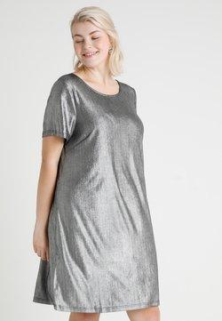 Zizzi - MSHINE DRESS - Jersey dress - silver