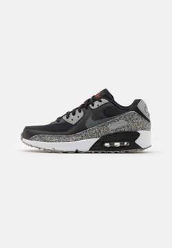 Nike Sportswear - AIR MAX 90 UNISEX - Sneakersy niskie - black/smoke grey/light smoke grey/white/bright crimson