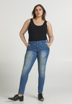Zizzi - Jeansy Straight Leg - light blue