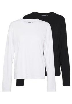Weekday - ALANIS 2 PACK - Pitkähihainen paita - black/white