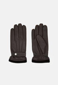 Calvin Klein - GLOVES SNAP - Fingervantar - dark brown