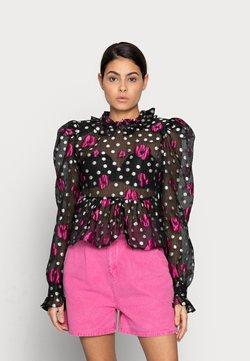 Custommade - CALMA - Bluse - anthracite black