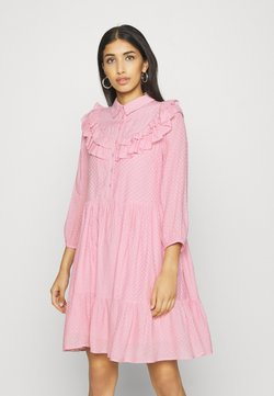 YAS - YASALVA 3/4 DRESS - Freizeitkleid - pink nectar