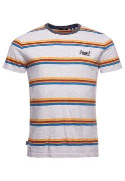Superdry - T-Shirt print - light grey marl stripe