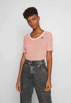 G-Star - SILBER SLIM - T-Shirt print - milk/acid orange