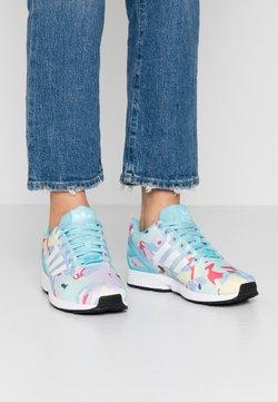 adidas Originals - ZX FLUX  - Sneakersy niskie - light aqua/footwear white/core black