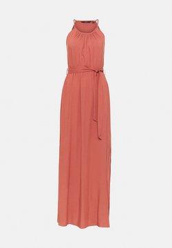 Vero Moda Tall - VMSIMPLY  EASY SLIT DRESS - Maxikleid - marsala