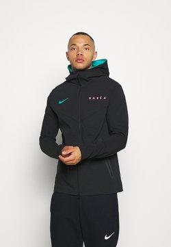 Nike Performance - FC BARCELONA HOODIE  - Equipación de clubes - black/black/new green