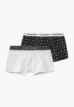 Calvin Klein Underwear - TRUNKS 2 PACK - Culotte - white/black