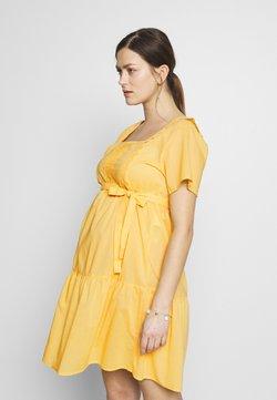 MAMALICIOUS - MLSOLANGE WOVEN SHORT DRESS - Trikoomekko - cream gold