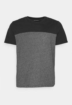 Pier One - T-shirt imprimé - black/mottled dark grey