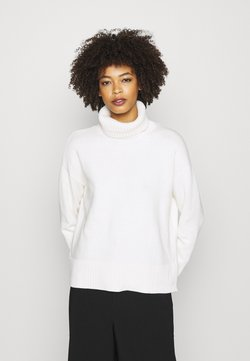 GAP - CROP OVERSIZED TNECK - Strickpullover - snowflake milk