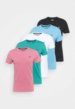 Hollister Co. - SEASONAL SOLID 5 PACk - Camiseta básica - white