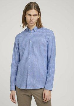 TOM TAILOR DENIM - Hemd - blue white linen stripe