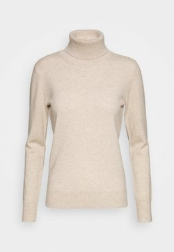 pure cashmere - TURTLENECK - Strickpullover - oatmeal