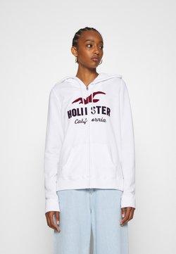 Hollister Co. - TERRY TECH CORE - Collegetakki - white