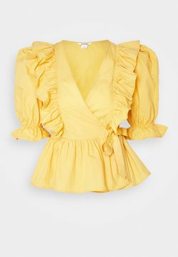 Monki - VELLA BLOUSE - Blouse - yellow