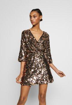 WAL G. - DRESS - Cocktailkleid/festliches Kleid - gold sequin