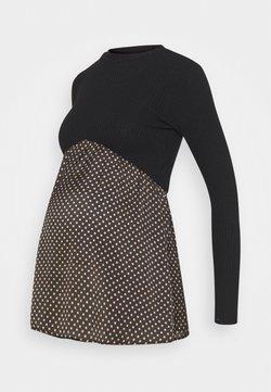 ATTESA - MAG COSTINA POIS - Jersey de punto - black