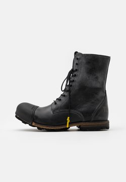 Yellow Cab - INDUSTRIAL - Schnürstiefelette - black