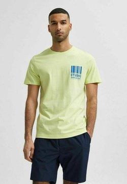 Selected Homme - T-shirt z nadrukiem - shadow lime