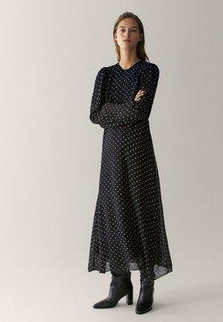 Massimo Dutti - MIT TUPFEN  - Długa sukienka - black