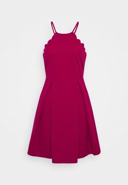 WAL G. - SCALLOP NECK SKATER DRESS - Cocktailkleid/festliches Kleid - magenta