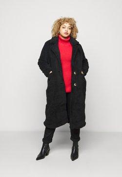 Simply Be - LONGLINE - Wintermantel - black