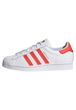 adidas Originals - SUPERSTAR  - Sneakers - footwear white/solar red/scarle