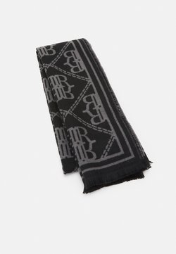 River Island - LARGE MONOGRAM SCARF - Sciarpa - black